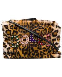 Dolce & Gabbana - Leopard Faux Fur Clutch - Lyst