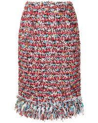 Coohem Vimar Tweed Skirt - Red
