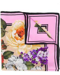 Dolce & Gabbana Foulard Met Bloemenprint - Meerkleurig