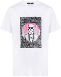 Karl Lagerfeld Endless プリント Tシャツ - ホワイト