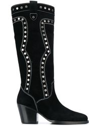 COACH Payton Western Boot - Black