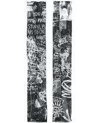 MM6 by Maison Martin Margiela | Graffiti Print Fingerless Gloves | Lyst