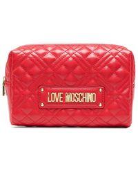 Love Moschino キルティング クラッチバッグ - レッド