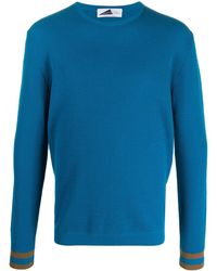Anglozine Uzes Knitted Jumper - Blue
