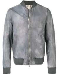 A Diciannoveventitre Double Zip Fastening Bomber - Gray
