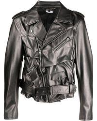 Comme des Garçons Buckle-detail Biker Jacket - Black