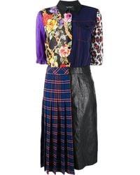Boutique Moschino パッチワーク シャツドレス - ブラック