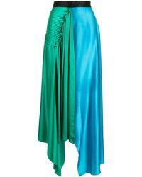 ROKSANDA Falda Syros con diseño colour block - Verde