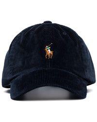 Polo Ralph Lauren Casquette en velours côtelé à logo - Bleu