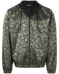 Versace Jeans - Baroque Pattern Hooded Jacket - Lyst