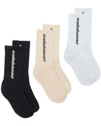 Yeezy - Multicoloured Calabasas Three Pack Socks - Lyst
