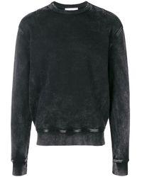 AMI アシッドウォッシュ スウェットシャツ - ブラック