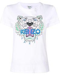 KENZO Camiseta con estampado de tigre