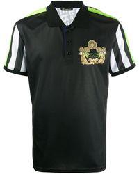 Versace ロゴ ポロシャツ - ブラック