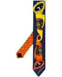 Versace Krawatte mit grafischem Print - Orange