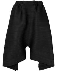 Pleats Please Issey Miyake | Oversized Draped Shorts | Lyst