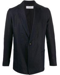 Societe Anonyme Single-breasted Regular-fit Blazer - Blue