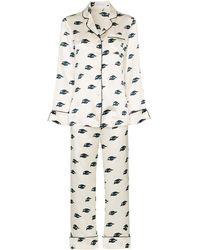 Olivia Von Halle Zijden Pyjama - Wit