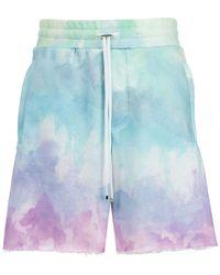 Amiri Shorts sportivi con stampa - Blu