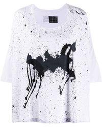 Rundholz Oversized Graphic Print T-shirt - White