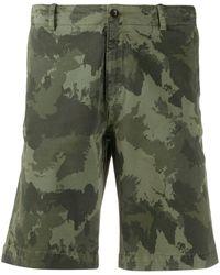 Hackett Camo Cargo Shorts - Green