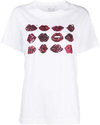 ESCADA スパンコール Tシャツ - ホワイト