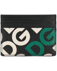 Dolce & Gabbana Porte-cartes à logo imprimé - Noir