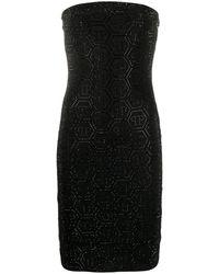 Philipp Plein Aurora ビジュードレス - ブラック