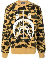 A Bathing Ape Monster Print Camouflage Sweatshirt - Multicolor
