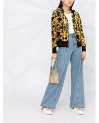 Versace Jeans Couture Худи С Принтом Baroque И Логотипом - Черный