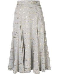 Bambah Marble Knit Skirt - Grey