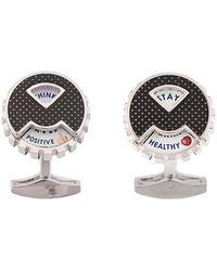 Tateossian - Rotating Message Wheel Cufflinks - Lyst