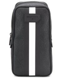 Bally Striped Sling Bag - Black
