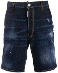 DSquared² Jeans-Shorts im Distressed-Look - Blau