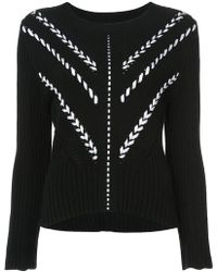 Carolina Herrera - Ribbon Detail Sweater - Lyst