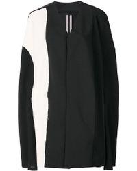 Rick Owens - Abrigo estilo capa de diseño colour block - Lyst
