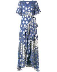 7b4135456f6 Marc Jacobs Arrow Printed Cotton Poplin Wrap Dress in Purple - Lyst