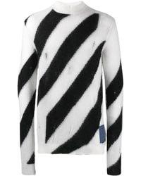 Off-White c/o Virgil Abloh Diagonal Sweater - Multicolor