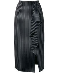 Essentiel Antwerp - Striped Draped Skirt - Lyst