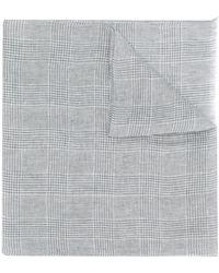 Eleventy Schal mit Karomuster - Grau