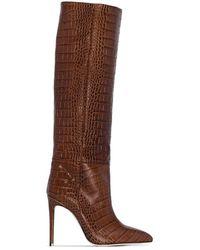 Paris Texas Stivali con stampa - Marrone
