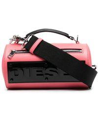 DIESEL シリンダー ショルダーバッグ - ピンク