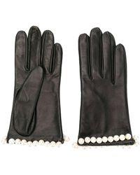 Manokhi Pearl Embellished Gloves - Zwart
