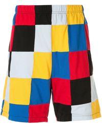 Supreme Short à design patchwork - Rouge