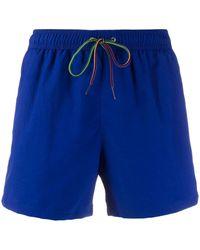 Paul Smith Plain Swim Shorts - Blue