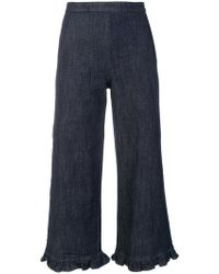 Manoush - Wide Leg Cropped Trousers - Lyst
