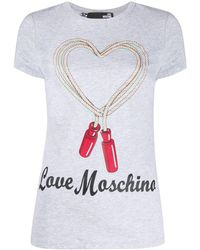 Love Moschino - ハートロゴ Tシャツ - Lyst