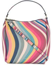 Paul Smith Hobo Swirl Leather Shoulder Bag - Multicolour