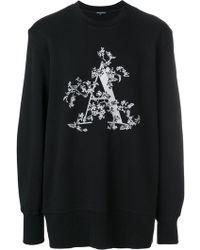 Ann Demeulemeester Blanche プリント スウェットシャツ - ブラック