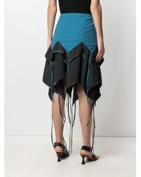 Kiko Kostadinov Layered Asymmetric Midi Skirt - Black